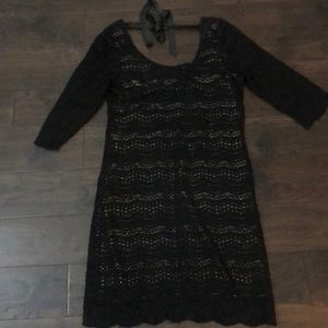 Denim and supply black lace dress